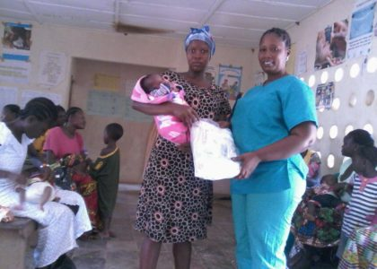 Infant kits donated by Presbyterian and Methodist Women in Minnesota