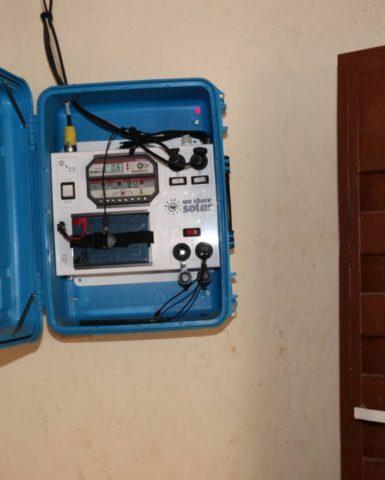 Blue WeShareSolar Suitcase reaches new home